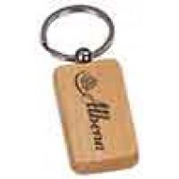Wooden Keychain Rectangular in Maple