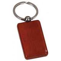 Wooden Keychain Rectangular in Rosewood