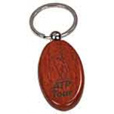Wooden Keychain Oval in Rosewood