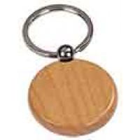 Wooden Keychain Round in Maple
