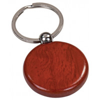 Wooden Keychain Round in Rosewood