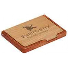 Wooden Business Card Holder in Maple/Rosewood