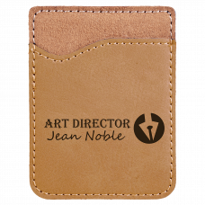Leatherette Phone Wallet in Light Brown