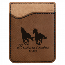Leatherette Phone Wallet in Dark Brown