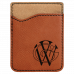 Leatherette Phone Wallet in Rawhide