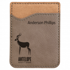Leatherette Phone Wallet in Gray