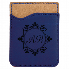 Leatherette Phone Wallet in Blue
