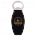 Leatherette Bottle Opener in Black/Gold with Magnet