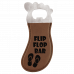 Leatherette Foot Shaped Bottle Opener in Dark Brown with Magnet