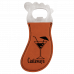 Leatherette Foot Shaped Bottle Opener in Rawhide with Magnet