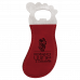 Leatherette Foot Shaped Bottle Opener in Rose with Magnet