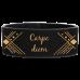 Leatherette Cuff/Bracelet in Black/Gold