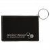 """Leatherette Keychain ID Holder in Black/Silver (4 1/4"""" x 3"""")"""