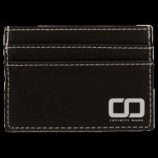 "Leatherette Money Clip in Black/Silver (4"" x 2 3/4"")"