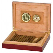 Humidor with Hygrometer & Humidifer in Rosewood Piano