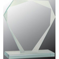 "Cut Diamond Jade Glass Award (5 1/2"")"