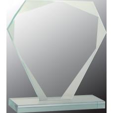 "Cut Diamond Jade Glass Award (6 1/4"")"