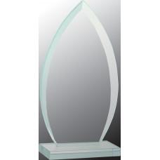 "Oval Jade Glass Award (7"")"