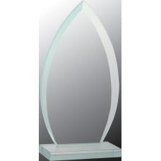 "Oval Jade Glass Award (7 3/4"")"