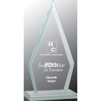 "Triangle Jade Glass Award (6 3/4"")"