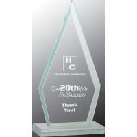 "Triangle Jade Glass Award (7 1/2"")"