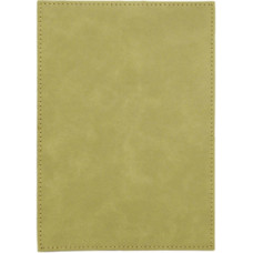 """Leatherette Plaque Plate in Light Brown (5"""" x 7"""")"""
