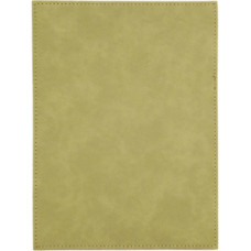 """Leatherette Plaque Plate in Light Brown (6"""" x 8"""")"""
