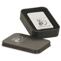 Chrome Lighters Metal Tin Box (Black)