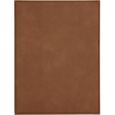 """Leatherette Plaque Plate in Dark Brown (6"""" x 8"""")"""