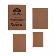 Leatherette Plaque Plate Sample Set in Dark Brown