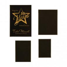 Leatherette Plaque Plate Sample Set in Black/Gold
