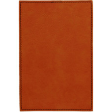 """Leatherette Plaque Plate in Rawhide (4"""" x 6"""")"""