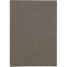 """Leatherette Plaque Plate in Gray (5"""" x 7"""")"""