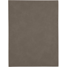"""Leatherette Plaque Plate in Gray (6"""" x 8"""")"""