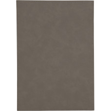"""Leatherette Plaque Plate in Gray (7"""" x 10"""")"""