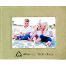 "Leatherette Photo Frames in Light Brown (5"" x 7"")"
