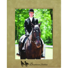 "Leatherette Photo Frames in Light Brown (8"" x 10"")"