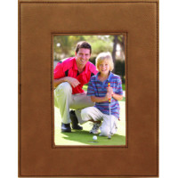 "Leatherette Photo Frames in Dark Brown (4"" x 6"")"