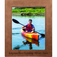"Leatherette Photo Frames in Dark Brown (8"" x 10"")"