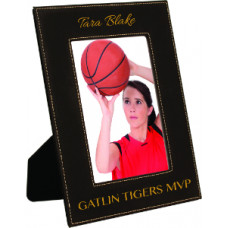 "Leatherette Photo Frames in Black (5"" x 7"")"