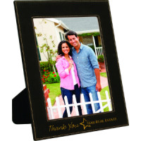 """Leatherette Photo Frames in Black (8"""" x 10"""")"""