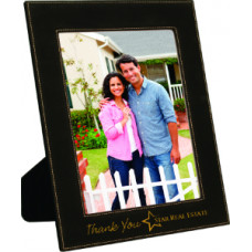 "Leatherette Photo Frames in Black (8"" x 10"")"