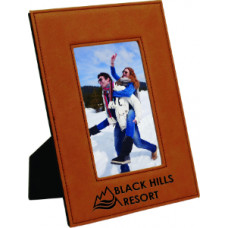 "Leatherette Photo Frames in Rawhide (4"" x 6"")"