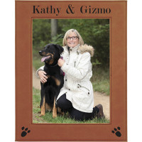 """Leatherette Photo Frames in Rawhide (8"""" x 10"""")"""