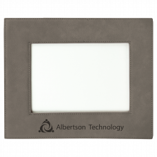"""Leatherette Picture Frame in Gray (5"""" x 7"""")"""