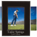 "Leatherette Picture Frame in Black/Silver (5"" x 7"")"