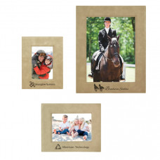 Leatherette Picture Frame Sample Set in Light Brown
