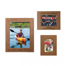 Leatherette Picture Frame Sample Set in Dark Brown