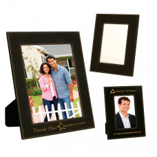 Leatherette Picture Frame Sample Set in Black/Gold