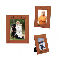 Leatherette Picture Frame Sample Set in Rawhide